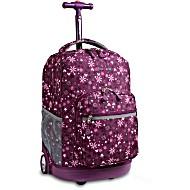 Универсальный школьный рюкзак на колесах JWORLD Sunrise арт. RBS18 Фиолетовый Сад
