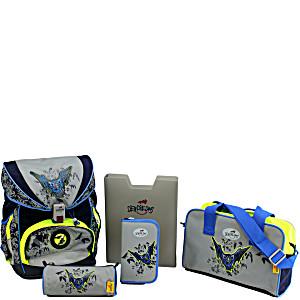 Школьный ранец DerDieDas ErgoFlex Exklusiv Superflash с наполнением Летучая Мышь