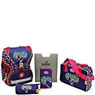 Школьный ранец DerDieDas ErgoFlex с наполнением Цветущая Яблоня + нагрудный ремень