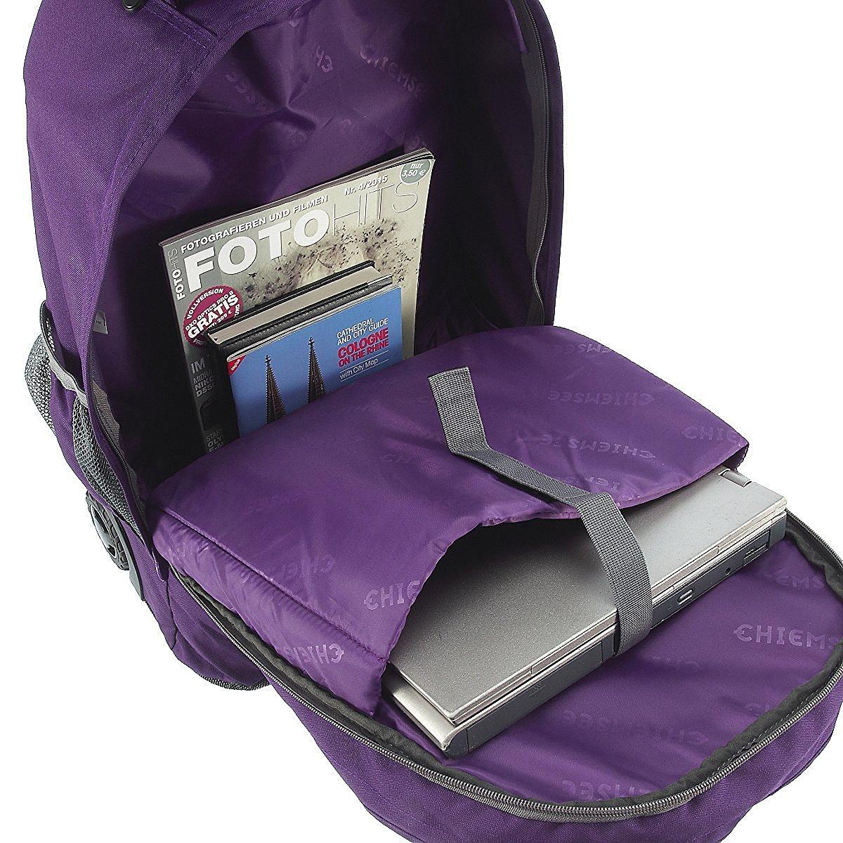 Рюкзак на колесах Chiemsee Клетка синяя, - фото 2