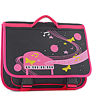 Портфель для музыкальной школы для девочки Розовое Пианино