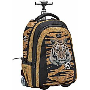 Рюкзак на колесах для школьников Belmil Тигр 338-45/693 Lumi Tigers2