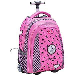Школьный рюкзак на колесиках Belmil Лошадка 338-45/692 Ridding a horse