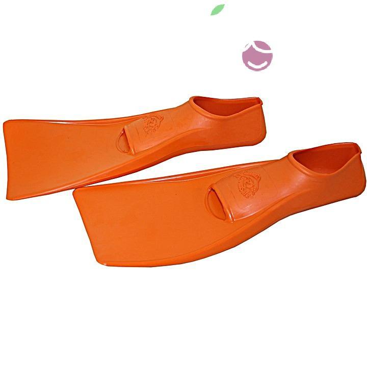 Ласты детские эластичные маленький размер 24 оранжевые закрытая пятка ProperCarry (ПРОПЕРКЭРРИ), - фото 2