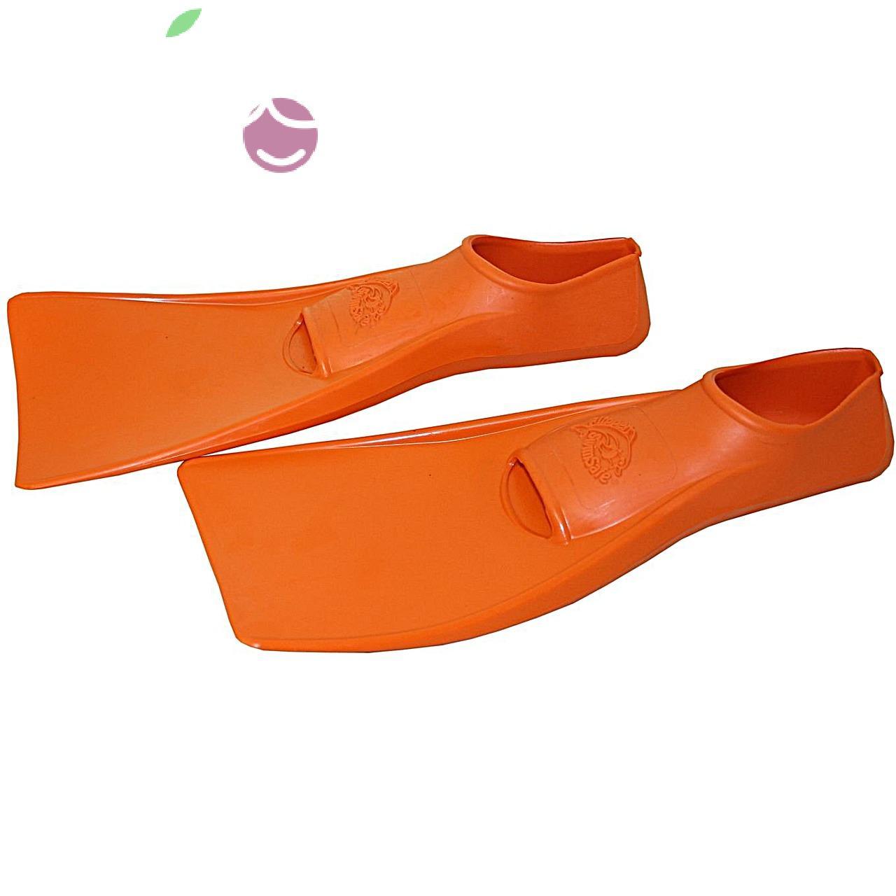 Ласты детские эластичные маленький размер 24 оранжевые закрытая пятка ProperCarry (ПРОПЕРКЭРРИ), - фото 3