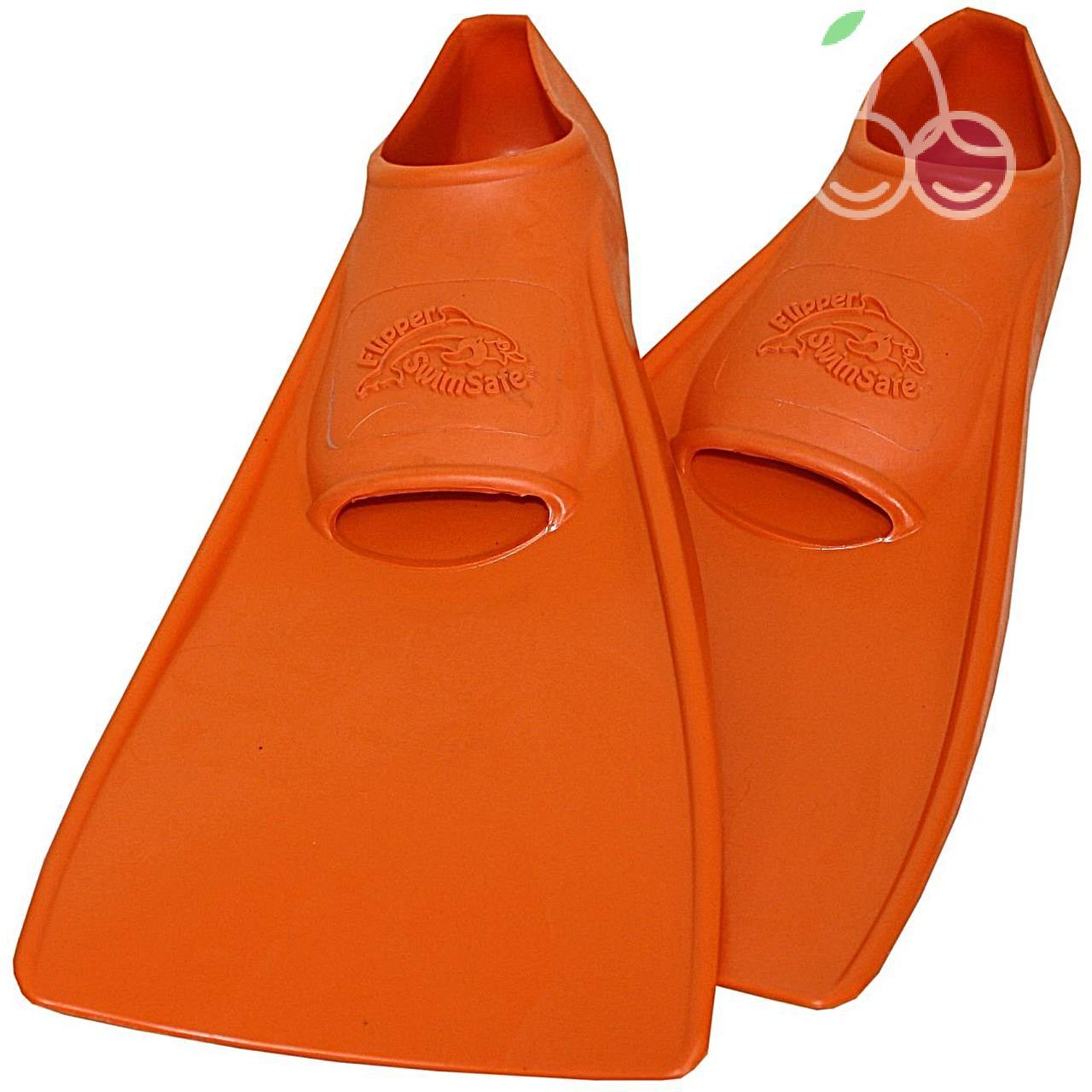 Ласты детские эластичные маленький размер 24 оранжевые закрытая пятка ProperCarry (ПРОПЕРКЭРРИ), - фото 1