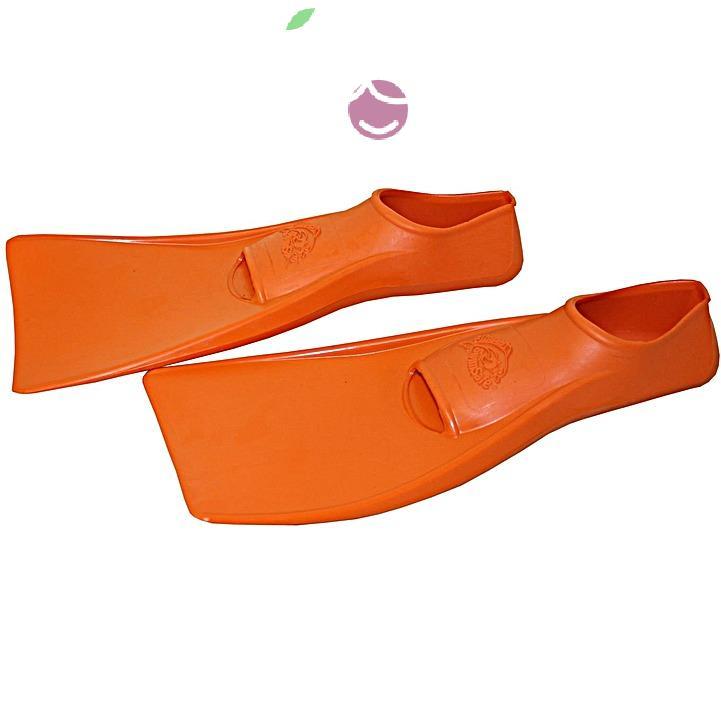 Ласты детские эластичные маленький размер 26 оранжевые закрытая пятка ProperCarry (ПРОПЕРКЭРРИ), - фото 2
